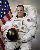 Houston, TX - (FILE) -- April 21, 2008 file photo of Astronaut Richard Arnold, mission specialist, STS-119, scheduled for launch no earlier than February 27, 2009.  Space shuttle Discovery will deliver the International Space Station's fourth and final set of solar arrays, completing the station's backbone, or truss structure.  The arrays will provide enough electricity to power science experiments and support the station's expanded crew of six. Altogether, the station's arrays can generate about 120 kilowatts of usable electricity -- enough to provide about 42 2,800-square-foot homes with power. The 14-day flight will include four spacewalks, lasting about 6.5 hours each, to help install the S6 truss segment to the right side of the station. STS-119 is the 125th space shuttle flight, the 28th flight to the station, the 36th flight of Discovery, and the first flight in 2009..Credit: NASA via CNP