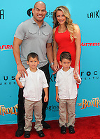 UNIVERSAL CITY, CA, USA - SEPTEMBER 21: Tito Ortiz, Amber Miller at the Los Angeles Premiere Of Focus Features' 'The Boxtrolls' held at Universal CityWalk on September 21, 2014 in Universal City, California, United States. (Photo by Celebrity Monitor)