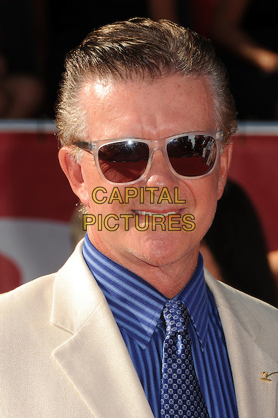 Alan Thicke.2012 ESPY Awards - arrivals held at Nokia Theatre L.A. Live,  Los Angeles, California, USA..11th July 2012.headshot portrait blue shirt cream white suit sunglasses shades .CAP/ADM/BP.©Byron Purvis/AdMedia/Capital Pictures.