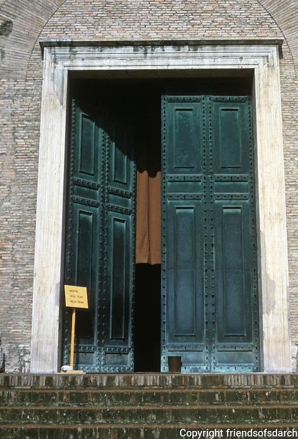 Italy: Rome--Roman Forum, Curia Doors*.  * not original