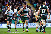 Dom Barrow of Leicester Tigers looks on during a break in play. Aviva Premiership match, between Northampton Saints and Leicester Tigers on April 16, 2016 at Franklin's Gardens in Northampton, England. Photo by: Patrick Khachfe / JMP