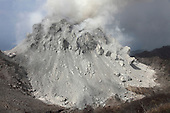 Degassing Rerombola lava dome of Paluweh Volcano during 2012 eruption, Flores, Indonesia.