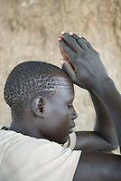 Sunday prayers at the Twic Olympics in Wunrok, Southern Sudan.