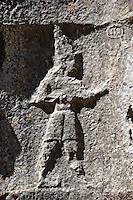 Picture of Yazilikaya [ i.e written riock ], Hattusa  The largest known Hittite sanctuary. 13th century BC made in the reign of Tudhaliya 1V . 10