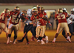 Lafayette High's Demarkous Dennis (5) runs in the second quarter vs. Lewisburg in Homecoming football action in Oxford, Miss. on Friday, September 30, 2011. Lafayette High won 42-0 for the team's 23rd straight win.
