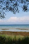 View of Lake Michigan on beautiful summer day from Old Mission Peninsula, Lake Michigan, Traverse City area, Michigan, USA