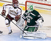 Pat Mullane (BC - 11), Charles Grant (Dartmouth - 30) - The Boston College Eagles defeated the visiting Dartmouth College Big Green 6-3 (EN) on Saturday, November 24, 2012, at Kelley Rink in Conte Forum in Chestnut Hill, Massachusetts.