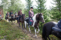 Gloi, the icelandic horse association in Mid-Norway. A yearly ride in the mountains of Sylan.