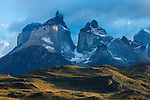 The striking landscape of Torres Del Paine in Patagonia, Chile.