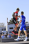 Greg Van Avermaet (BEL) BMC Racing wins the 115th edition of the Paris-Roubaix 2017 race with Zdenek Stybar (CZE) Quick-Step Floors in 2nd place, running 257km from Compiegne to Roubaix, France. 9th April 2017.<br /> Picture: Eoin Clarke | Cyclefile<br /> <br /> <br /> All photos usage must carry mandatory copyright credit (&copy; Cyclefile | Eoin Clarke)