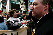 New York, New York<br /> USA<br /> March 19, 2005<br /> <br /> Demonstrators are arrested outside the United States Army recruiting station in New York's Time Square protesting the second anniversary of the War on Iraq March 19, 2005. <br /> <br /> Demonstrators from several peace and social justice groups marched to various United States military recruiting stations throughout New York city disrupting the recruiting process.