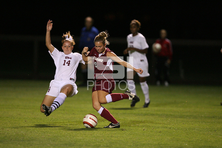 28 October 2005: Kate Mannino during Stanford's 1-0 loss to USC at Maloney Field in Stanford, CA.