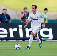 LOS ANGELES, CA – July 16, 2011: Ricardo Carvalho (2) of Real Madrid during the match between LA Galaxy and Real Madrid at the Los Angeles Memorial Coliseum in Los Angeles, California. Final score Real Madrid 4, LA Galaxy 1.