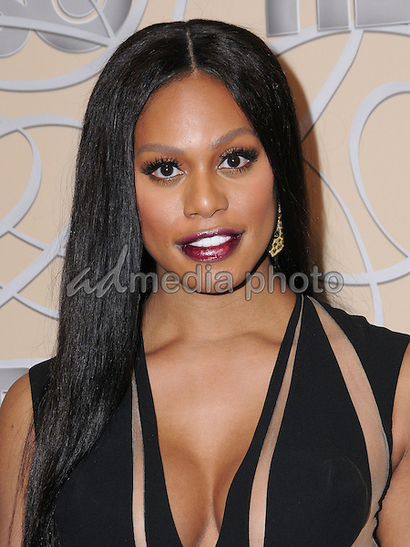 08 January 2017 - Beverly Hills, California - Laverne Cox. HBO's Official 2017 Golden Globe Awards After Party held at the Beverly Hilton Hotel Photo Credit: Birdie Thompson/AdMedia
