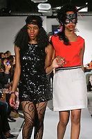 Fashion designers/student from William H. Maxwell High School walk the runway with models, at the close of the William H. Maxwell High School Fall 2012 collection, during BK Fashion Weekend Fall Winter 2012.