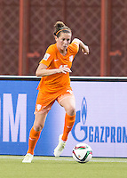 Montreal - June 15, 2015:  Canada (white) drew with Netherlands (orange) 1-1 n a Women's World Cup match at the Olympic Stadium