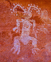 """Pictographs, Souhtern Utah Ancient Native American rock art paintings """"The Easter Bunny"""""""