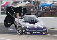 Apr 26, 2015; Baytown, TX, USA; NHRA funny car driver Jack Beckman during the Spring Nationals at Royal Purple Raceway. Mandatory Credit: Mark J. Rebilas-