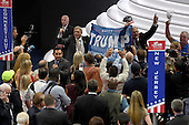 Pro-Trump demonstration on the floor of the 2016 Republican National Convention at the Quicken Loans Arena in Cleveland, Ohio on Monday, July 18, 2016.<br /> Credit: Ron Sachs / CNP<br /> (RESTRICTION: NO New York or New Jersey Newspapers or newspapers within a 75 mile radius of New York City)