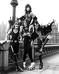 Kiss 1976 Peter Criss, Paul Stanley, Ace Frehley and Gene Simmons in London<br /> <br /> &copy; Chris Walter
