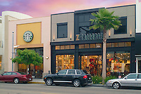 Z Gallerie, Beverly Hills, CA, Home Decor Furniture and Starbucks, Retail Stores