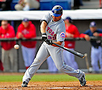 4 March 2009: New York Mets' infielder Jose Valentin in action during a Spring Training game against the Washington Nationals at Space Coast Stadium in Viera, Florida. The Nationals rallied to defeat the Mets 6-4 . Mandatory Photo Credit: Ed Wolfstein Photo