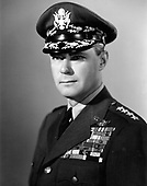 General Hoyt S. Vandenberg was the second chief of staff of the United States Air Force, Washington, D.C.  The general was born at Milwaukee, Wisconsin in 1899. He graduated from the U.S. Military Academy June 12, 1923, and commissioned a second lieutenant in the Air Service.  General Vandenberg retired from active duty June 30, 1953.  He has been awarded the Distinguished Service Medal with oak leaf cluster, Silver Star, Legion of Merit, Distinguished Flying Cross, Air Medal with four oak leaf clusters, Bronze Star, Victory Medal, American Campaign Ribbon, American Defense Ribbon and the European-African-Middle East Campaign Ribbon.  General Vandenberg died April 2, 1954. .Credit: U.S. Air Force via CNP