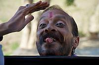 Strange man outside the Fort in Agra