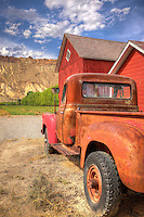 Red Barn Truck - Colorado (vertical)<br />