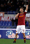 Calcio, Serie A: Roma vs Fiorentina. Roma, stadio Olimpico, 8 dicembre 2012..AS Roma forward Francesco Totti celebrates after scoring his second goal during the Italian Serie A football match between AS Roma and Fiorentina at Rome's Olympic stadium, 8 december 2012..UPDATE IMAGES PRESS/Isabella Bonotto