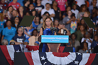 FT LAUDERDALE, FL - NOVEMBER 01: Debbie Wasserman Schultz, U.S. Representative (D-FL-23) speak before Democratic presidential nominee Hillary Clinton to a crowd of 4,300 supporters during a campaign rally at Reverend Samuel Delevoe Memorial Park on November 1, 2016 in Ft Lauderdale, Florida. The presidential general general election is November 8.  Credit: MPI10 / MediaPunch