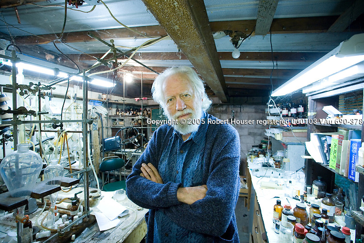 "Alexander ""Sasha"" Shulgin, Ph.D. - pharmacologist and chemist, worked with MDMA (Ecstasy) and other psychoactive chemicals: Executive portrait photographs by San Francisco - corporate and annual report - photographer Robert Houser."