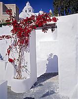 "Churches in Fira, Island of Santorini, Greece, Cyclades, Aegean Sea, ""Thera"", Possible Choice of Atlantis Legend, 45 v IC1 Volcanic caldera"