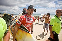 Tuesday (March 4 2008) The Quiksilver Pro Gold Coast was finished up today at  Snapper Rocks, Coolangatta, Queensland, Australia.  The surf was in the 1metre range with light winds. Eight times world champion KELLY SLATER (USA)  defeated current world champion and hometown hero MICK FANNING (AUS) in front of a crowd of thousands. Photo: Joli