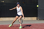 24 March 2016: Notre Dame's Mary Closs. The North Carolina State University Wolfpack hosted the University of Notre Dame Fighting Irish at the J.W. Isenhour Tennis Center in Raleigh, North Carolina in a 2015-16 NCAA Division I Women's Tennis match. NC State won the match 4-3.