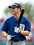 9 March 2010: Detroit Tigers' outfielder Casper Wells awaits his turn in the batting cage prior to a Spring Training game against the Washington Nationals at Space Coast Stadium in Viera, Florida. The Tigers defeated the Nationals 9-4 in Grapefruit League action. Mandatory Credit: Ed Wolfstein Photo