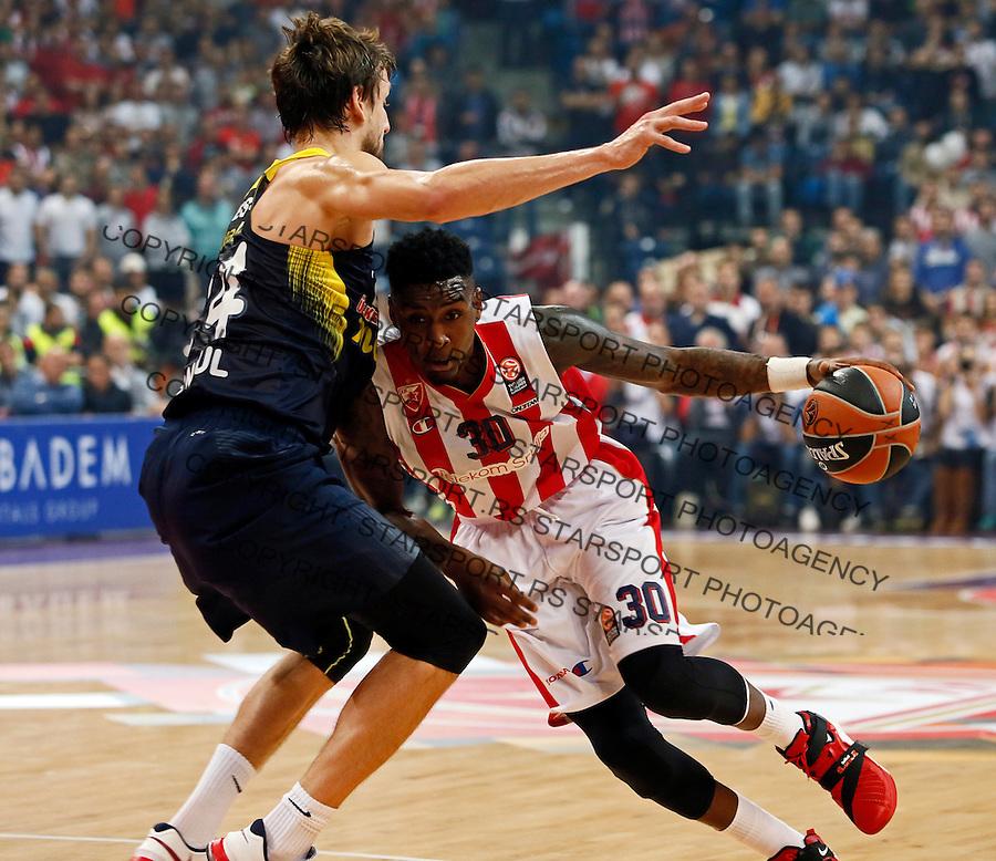 Quincy Miller Euroleague basketball game between Crvena Zvezda and Fenerbahce on Novembar 6. 2015 Beograd, Srbija, 6.11.2015.  (credit image & photo: Pedja Milosavljevic / STARSPORT)