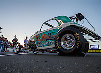 Jul 29, 2016; Sonoma, CA, USA; NHRA fuel altered driver XXXX during qualifying for the Sonoma Nationals at Sonoma Raceway. Mandatory Credit: Mark J. Rebilas-USA TODAY Sports