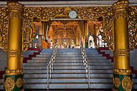 Myanmar, Burma, Yangon.  Sule Pagoda Entrance.