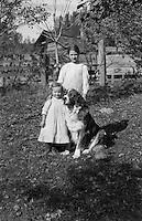Rural Austria - Girls and Dog (Pre-1920)