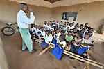 A class in an elementary school sponsored by the United Methodist Church in the village of Wembo Nyama, DR Congo.