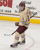 Johnny Gaudreau (BC - 13) - The Boston College Eagles defeated the visiting University of Notre Dame Fighting Irish 4-2 to tie their Hockey East quarterfinal matchup at one game each on Saturday, March 15, 2014, at Kelley Rink in Conte Forum in Chestnut Hill, Massachusetts.