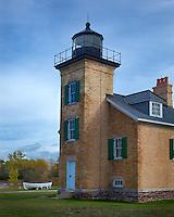Ontonagon County, MI<br /> Ontonagon Light (1853) stands at the mouth of the Ontonagon River,  Lake Superior