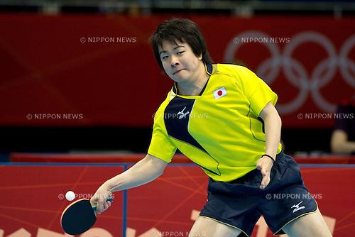 Seiya Kishikawa (JPN), .JULY 30, 2012 - Table Tennis : .Men's Singles 3rd round match at ExCeL during the London 2012 Olympic Games in London, UK.  (Photo by Enrico Calderoni/AFLO SPORT)