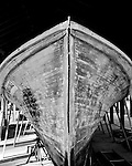 The JEAN DALE, constructed in 1946, exhibits the flared-bow design popularized by its builder, Brady Lewis, of Harkers Island. The flared bow became a defining characteristic of Harkers Island boats.