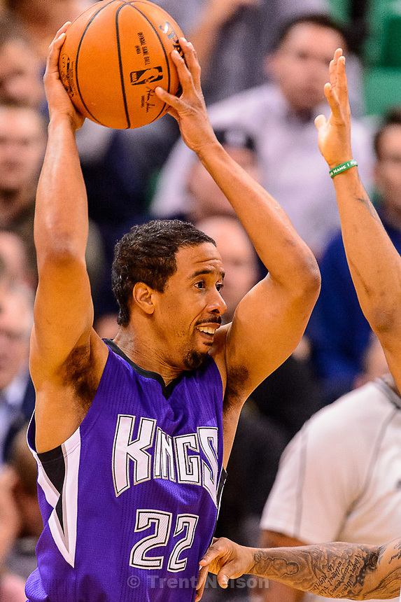 Trent Nelson  |  The Salt Lake Tribune<br /> Sacramento Kings guard Andre Miller (22) as the Utah Jazz host the Sacramento Kings at EnergySolutions Arena in Salt Lake City, Wednesday April 8, 2015.