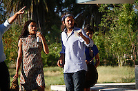 Rosario Dawson and Diego Luna on location for the filming of Chavez in Hermosillo, Mexico. June 5, 2012. Photo: Baldemar de los Llanos/NortePhoto/MediaPunch Inc. ***NO SPAIN***NO MEXICO***