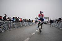 Mathieu Van der Poel (NED/Beobank-Corendon) winning his 20th race of the season; his 7th of 8 Superprestiges and (obviously) the overall of the Superprestige Series<br /> <br /> elite men's race<br /> CX Superprestige Noordzeecross <br /> Middelkerke / Belgium 2017