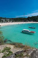 Raya island beach and boats, Thailand