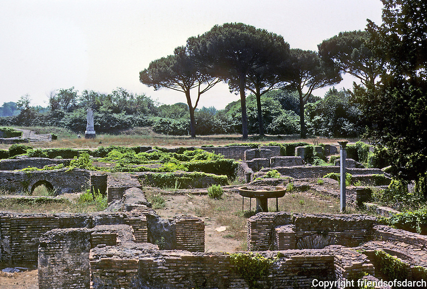 Italy: Ostia--Tombs. Photo '83.